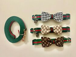 Luxury Pet Gucci Bowtie Collar Adjustable with many Sizes $16.99