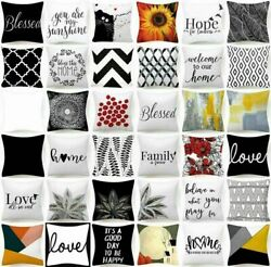 Cushion COVER White Black Soft Double Sided Decorative Throw Pillow Case 18x18quot; $7.86