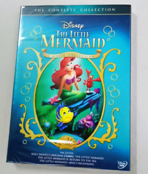 The Little Mermaid 3 Movie Complete Collection 4 Discs Box Set DVD Region 1 $14.80
