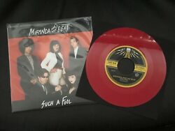 """Miranda And The Beat Such A Fool 7"""" Third Man Records $60.00"""