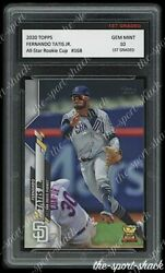 2020 Fernando Tatis Jr. Topps Rookie Cup 1st Graded 10 San Diego Padres RC Card $29.99