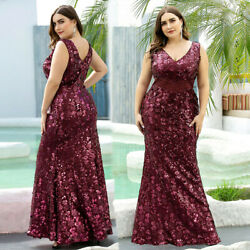 Ever Pretty Plus Size Sequined Formal Dresses Long Mermaid Evening Dresses $56.39