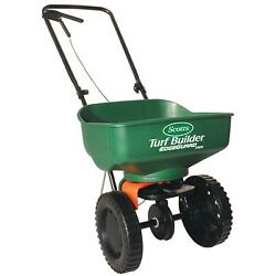 Scotts Mini Broadcast Seed Fertilizer Spreader 5000 sq ft Grass Lawn Push Wheel $43.44