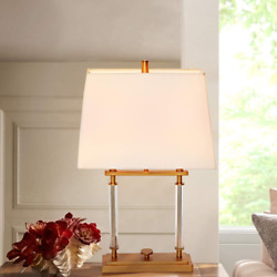 Gold Table Lamp Large Accent Lamp Shades Metal in Brushed Brass Finish Plug in $43.99