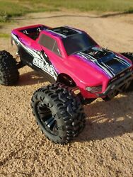 Razzo Racing 1 10 Atlas Electric RC 4wd Monster Truck 2.4GHz Fast Pink RTR $149.99