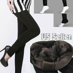 Women Winter Thick Fleece Fur Lined Thermal High Waisted Tight Pencil Leggings $13.99