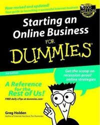 Starting an Online Business for Dummies? by Greg Holden $4.34