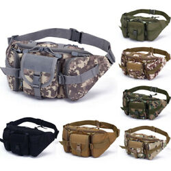 Men Pack Waist Bag Military Hip Belt Hiking Fishing Sport Portable Charm $16.04