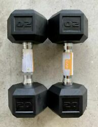NEW CAP COATED RUBBER HEX DUMBBELLS Select Weight 1015 20 25 30 35 40LB $79.99