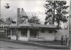 1955 Press Photo Commercial buildings in Post Falls spa55050