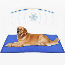 Gel Cooling Mat for Dogs and Cats Self Cooling Dog Bed Summer Sleeping Gel Pad $15.95