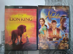 Aladdin amp; Lion King 2019 DVD Live Action Will Smith 2 Movie Bundle Brand New $12.50