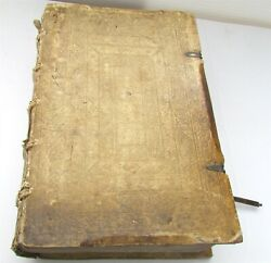 1572 POPE GREGORY MASSIVE FOLIO BLIND STAMPED PIGSKIN BINDING antique in LATIN $989.99