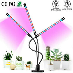 3 Head LED Plant Grow Light 30W Flower Indoor Greenhouse Hydroponic Lamp w Timer $17.99
