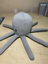 Pillowfort Octopus Gray Knit Pillow Plush Throw 12quot; Target Plush Stuffed Animal $13.99
