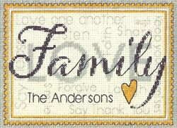 Cross Stitch Mini Kit Dimensions Personalized Family Sampler Sign #70 65140 $9.99