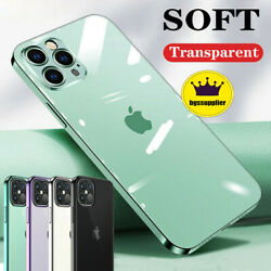 For iPhone 12 Pro 12 Mini 12 Pro Max Clear Case Soft Shockproof Crystal Cover $9.99