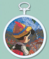 Cross Stitch Mini Kit Disney Dreams Pinocchio w Frame #52651A $2.99