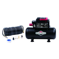 Portable Air Compressor Three Gallon With Eight Piece Accessory Kit 125 Max PSI $76.94