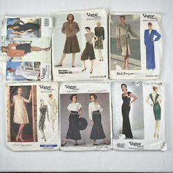 6 VOGUE Attitude Designer Clothes Pattern Lot Ellis Simpson Oscar Lagerfeld