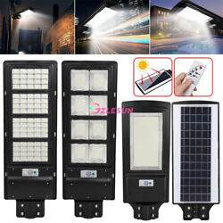 9900000LM Commercial LED Solar Street Light PIR Sensor Dusk to DawnRemotePole