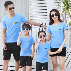 Parents short sleeve Leisure summer clothes Couple lovers T Shirt lover family $14.10