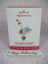 Hallmark Twelve 12 Days of Christmas 2017 Seven Swans A Swimming Ornament $59.95