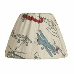 Glenna Jean 9quot;x12quot; Fly By Airplane Lamp Shade Multi $26.99