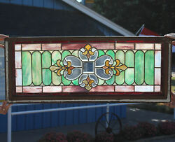 Antique Beveled Leaded Stained Glass Window $475.00