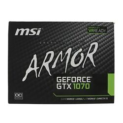 New MSI Gaming GeForce GTX 1070 8GB GDDR5 SLI DirectX 12 VR Ready Graphics Card $475.00