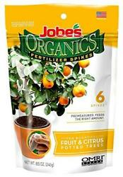 Jobe#x27;s Organics Fruit amp; Citrus Fertilizer Spikes 6 Spikes $17.29