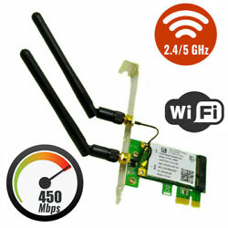 For Intel WIE5102 PCI E Network Card Wifi Adapter Dual Band MU MIMO 300 450Mbps $10.63