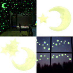 100 Glow In The Dark Star and Moon Shape for Ceiling Wall Bedroom US $5.73