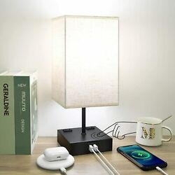 Touch Control Table Lamp Bedside Lamp 2 USB Port 1 Outlet LED Bulb Included $29.98