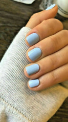 ASPEN SKY Color Street Nail Strips Pale BABY BLUE Solid NEW SEALED Mixed Mani $9.97