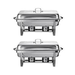2 PCAK Party Tray Foldable Frame Buffet Chafer Set food tray warmer set $75.99