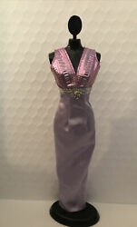 Barbie Clothes: Lovely Long Sleeveless Lavender Gown Formal Party Dress B $14.99