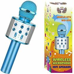 Wireless Bluetooth Karaoke Microphone for Kids Christmas Birthday Home Party for $18.72