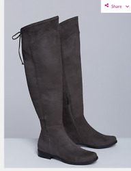 LANE BRYANT CASTLE WALL OVER THE KNEE FLAT BOOTS sz 12W as is $37.99