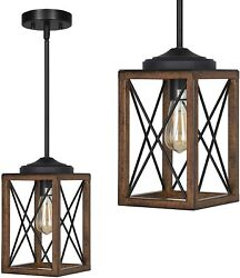DEWENWILS Farmhouse Pendant Light Kitchen Island Metal Hanging Light Fixtures $46.99