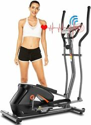 ANCHEER Magnetic Elliptical Machine Indoor Exercise Trainer with APP LCD Monitor $359.99