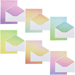 60 Lined Sheets Watercolor Stationery Gradient Paper with 30 Envelopes 6 Designs $11.99