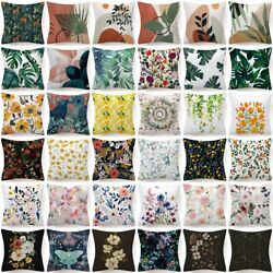 18x18quot; Throw PILLOW COVER Floral Double Sided Decorative Flower Bed Cushion Case $7.86