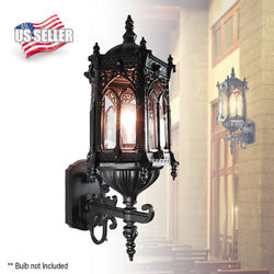 Exterior Outdoor Wall Lantern Light Oil rubbed Matte Black Finish Clear Glass