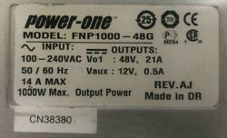 POWER ONE FNP1000 48G Front End AC DC power Supply power 1000W $180.00