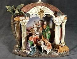 Nativity Lamp Large Display Ceramic with Cord amp; Light Beautiful MrSTUFF JM124 $23.96