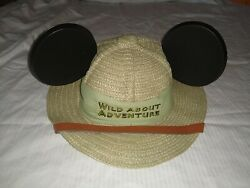 Disney Parks Animal Kingdom quot;Wild About Adventurequot; Mouse Ear Youth Safari Hat $19.99
