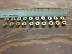 Lamp Parts 3 8 OD X 6 32f Solid Brass Reducer NOS Lot Of 20 $15.95