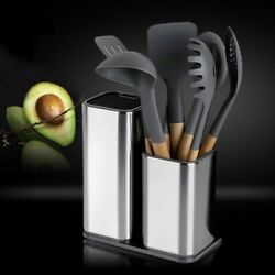 New Knife Stand Holder For Multi Kitchen Knives Stainless Organizer Kitchen Tool $38.99