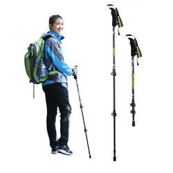 1Pc Trekking Poles Carbon Fiber Hiking Pole 3 Level Hiking Stick Walking Stick $22.19